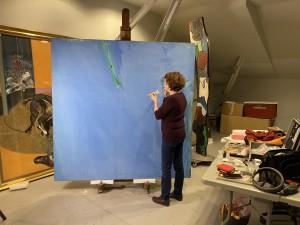 Olivier Debré, restauration de la couche picturale