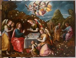 Jesus servit par les anges_6